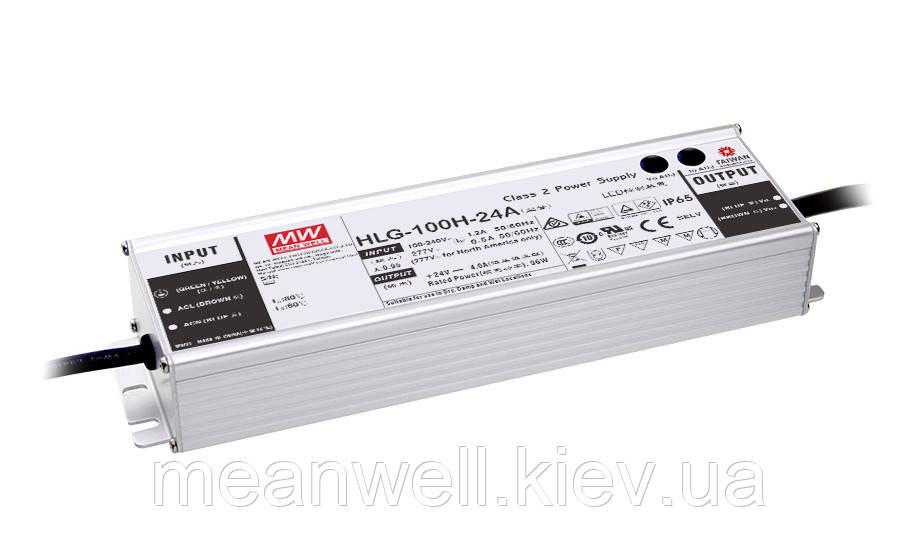 HLG-100H-24A Блок питания Mean Well 96вт, 4А, 24в  ІР67 драйвер питания светодиодов LED