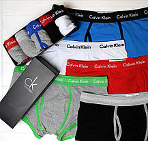 Подарочный набор Мужские Трусы боксеры CALVIN KLEIN 365 шорты CK комплект 5 шт реплика, фото 3