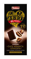 Черный шоколад без сахара Torras ZERO cafe arabika с кофе арабика эфиопия 100 г