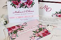 Свадебные пригласительные ручной роботы (весільні запрошення) с конвертом