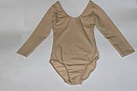 Бежевый купальник для танцев детский Трикотаж 152 см, 158 см, 164 см