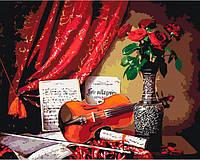 Рисование по номерам Картина серии Букет, Мелодия скрипки 2, 40 × 50 см, Идейка