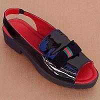 7006.2| (36; 37; 38) Женские босоножки на невысоком каблуке и платформе