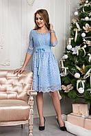 Романтичное короткое женское платье 124