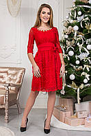Праздничное короткое женское платье 124-1
