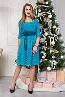 Праздничное короткое женское платье 124-2