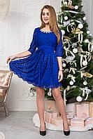 Праздничное короткое женское платье 124-3