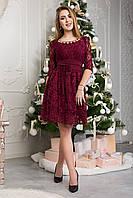 Праздничное короткое женское платье 124-4