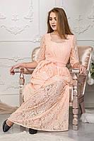 Изысканное красивое гипюровое платье в пол 125