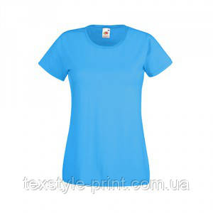 Футболка женская FOL Lady Fit Valueveight Tee XL, голубая
