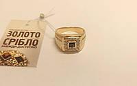 Золотой перстень мужской, вес 6.73 грамм, размер 19,5.