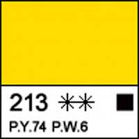 Краска акриловая Сонет желтая светлая 75мл ЗХК