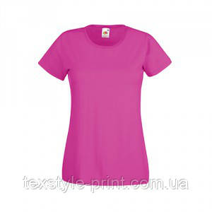 Футболка женская FOL Lady Fit Valueveight Tee 2XL, розовая