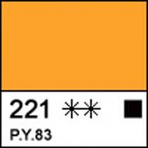 Краска акриловая Сонет желтая темная 75мл ЗХК