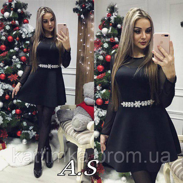 c518176fd9c Красивое платье из неопрена с евро сеткой - Интернет-магазин