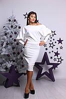 Стильный женский костюм с юбкой Кобра