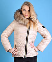 Молодежная куртка Наоми с мехом 6 цветов ,есть батальные размеры