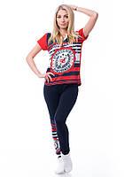 Женский домашний костюм лосины и футболка 8132