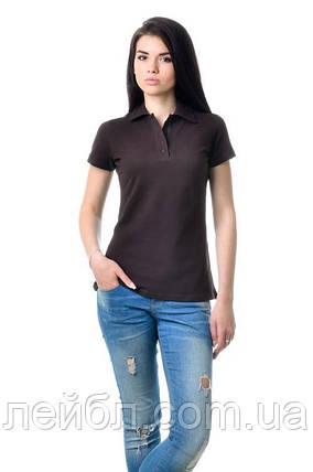 Жіноча футболка-Поло з коротким рукавом - коричневий, фото 2