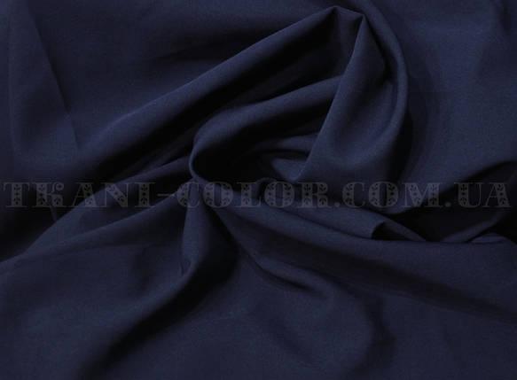 Костюмная ткань креп барби темно-синяя, фото 2