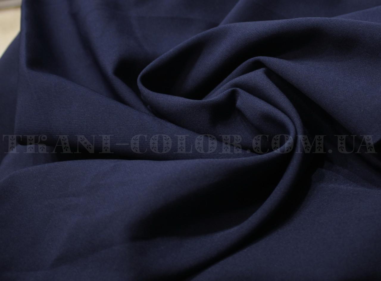 Костюмная ткань креп барби темно-синяя