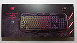 Клавиатура с цветной подсветкой мультимедийная HAVIT HV-KB406L, USB, фото 7
