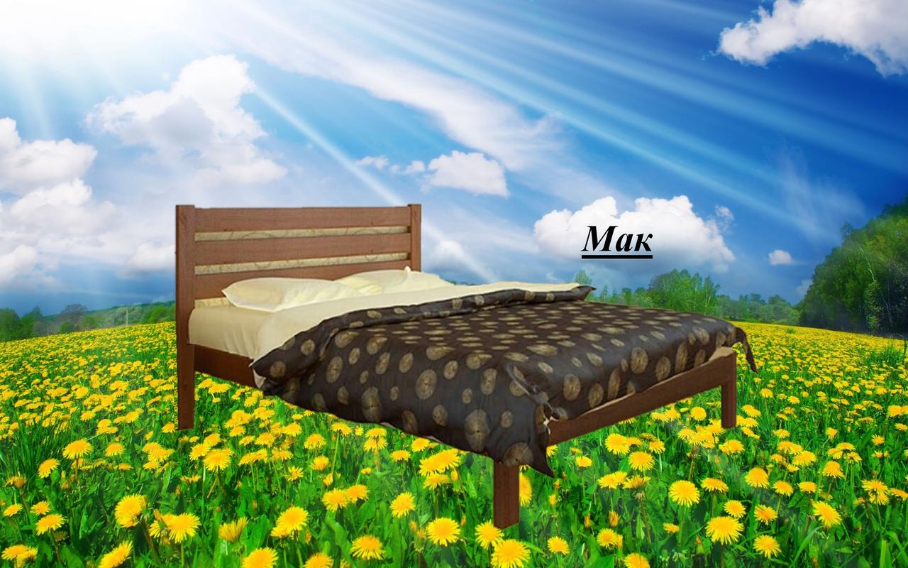 Кровать двухспальная Мак