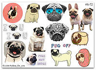Stickers Pack Мопсы #72