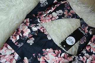 Новое платье миди с вырезом на спинке в цветочный принт Boohoo, фото 2