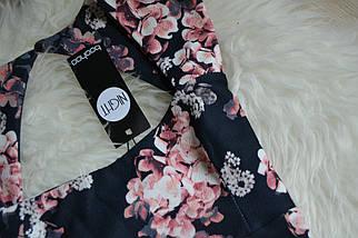 Новое платье миди с вырезом на спинке в цветочный принт Boohoo, фото 3