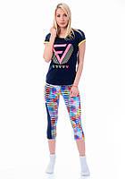 Женская пижама лосины и футболка Турция 8201