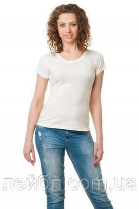Женская футболка однотонная-белая, фото 2