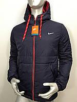 Мужская осенняя куртка Nike, мужская ветровка найк копия