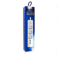 Удлинитель сетевой LDNIO SC3330 3USB 3 розетки 1.8м , фото 1
