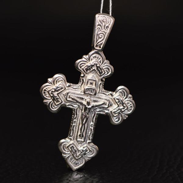 Серебряный крестик с распятием, 11 грамм