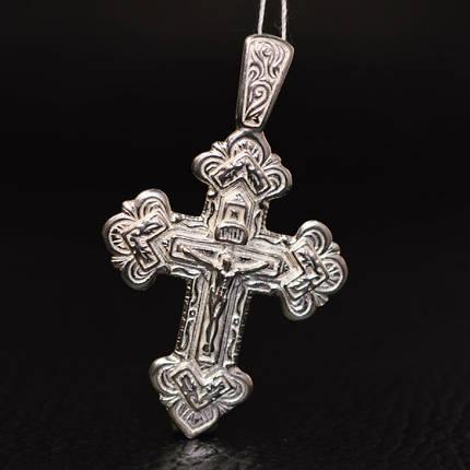Серебряный крестик с распятием, 11 грамм, фото 2