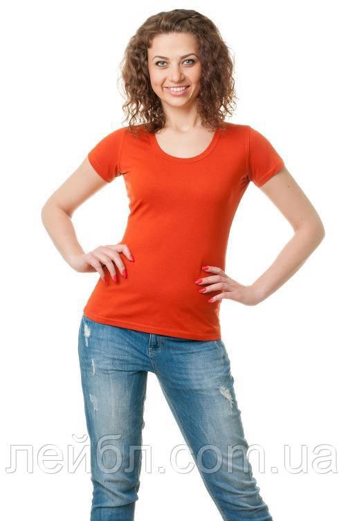 Женская футболка-рыжий