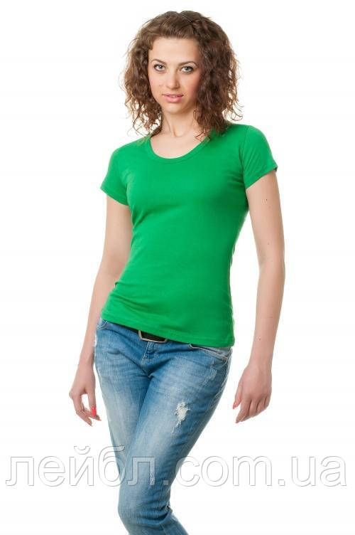 Женская футболка-зеленая трава