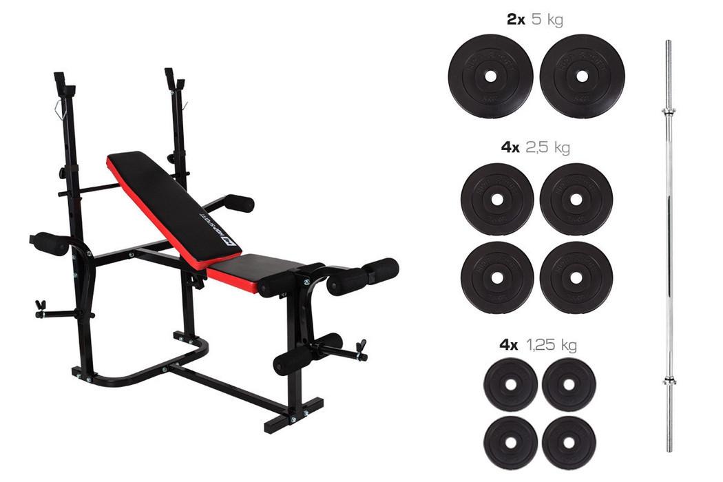 Набор Premium 33 кг со скамьей HS-1020