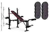 Набор Premium 74 кг со скамьей HS-1055