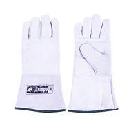Перчатки для сварки Дніпро-М Краги замшевые белые