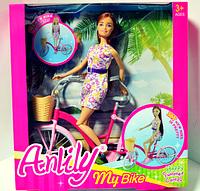 Кукла типа Барби Anlily 99043, с велосипедом