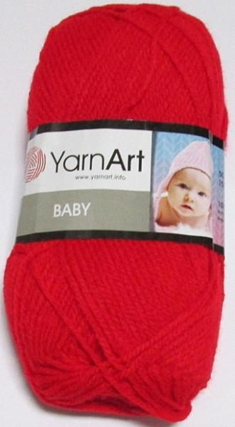 Пряжа Yarn Art Baby, красная 156