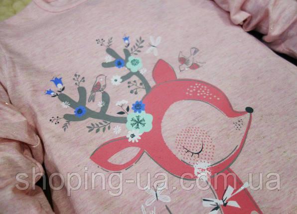 Кофточка розовая Олененок KD0079-92р, фото 2