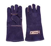 Перчатки для сварки Дніпро-М Краги замшевые черные