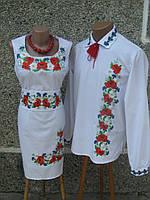Плаття жіноче і чоловіча сорочка Макове поле