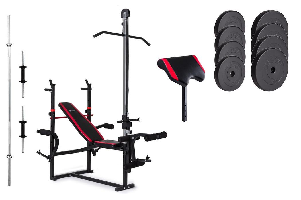 Набір Premium 39,5 кг з лавою HS-1070 з тягою і партою