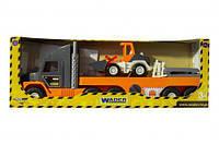 Машина гигант wader 36720 Спецтехника super tech truck с бульдозером