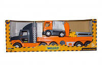 Машина гигант wader 36730 super tech truck с мусоровозом