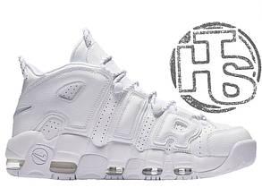 Мужские кроссовки Nike Air More Uptempo 96 Triple White 921948-100